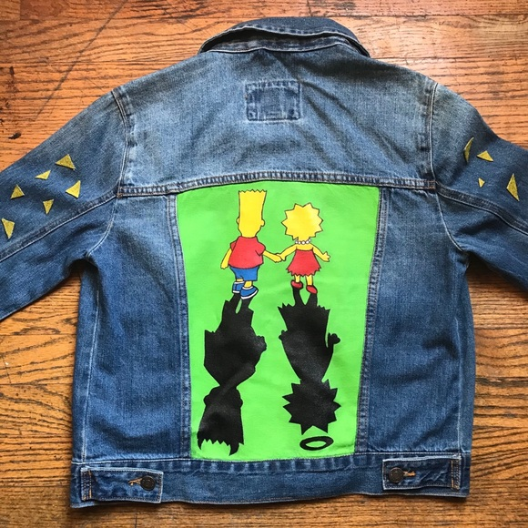 Forever 21 Jackets & Blazers - Hand painted Simpson's jean jacket